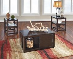 Shop Shannifer Contemporary Dark Brown Occasional Table Set with great price, The Classy Home Furniture has the best selection of to choose from Living Room Inspiration, Decoration, Cool Furniture, Dark Brown, Entryway Tables, Table Settings, Cabinet, Contemporary, Storage