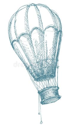 Illustration about Old style hot air balloon isolated over white. Illustration of high, sports, sketched - 14266627 Balloon Logo, Air Balloon Tattoo, Hot Air Balloon, Ballons Fotografie, Ballon Illustration, Balloons, Steampunk, Sketches, Drawings