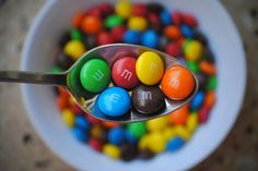 Bowl of M & M's