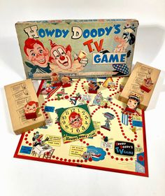 Childrens Board Games, Game Museum, Howdy Doody, See Games, Vintage Board Games, Milton Bradley, Game Boards, Game Start, Color Games