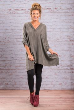 """""""The Runaround Tunic, Brown""""This tunic is perfect for running around town or just hanging out with friends and family! It's just so comfy and yet still so chic! It's the best of both worlds! #newarrivals #shopthemint"""