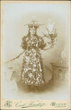 Hey guys! I've returned from another hiatus, and am hoping to find you in good holiday spirits, with enough zeal to compete with this fine lady's.ca. 1900, [young lady dressed as a Christmas Tree], Carl Kuskopvia Christopher Wahren Fine Photographs, Catalogue #40