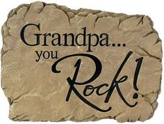 For a hard-to-gift Grandpa: Garden Stepping Stone Grandpa You Rock Stepdad Fathers Day Gifts, Grandparents Day Gifts, Diy Craft Projects, Projects For Kids, Craft Ideas, Diy Crafts, Lawn And Garden, Garden Art, Garden Stepping Stones