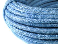 Rzemień Szyty Skóra Centkowana Niebieski 8x6mm 50cm 2,99 zł - Półfabrykaty do biżuterii \ Bazy biżuteryjne \ Rzemienie \ Szyte - MarMon.com.pl