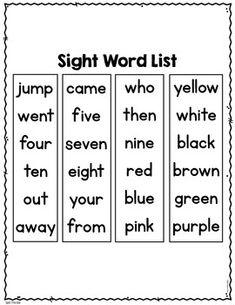 Sight Word Practice Kindergarten Set 4 Preschool Sight Words, Teaching Sight Words, Sight Words List, First Grade Sight Words, Sight Word Practice, Writing Practice, Kindergarten Addition Worksheets, 1st Grade Math Worksheets, Kids Worksheets