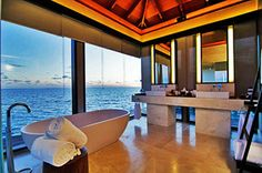 Jumeirah Dhevanafushi Maldives - Ocean Sanctuary Villa Bathroom