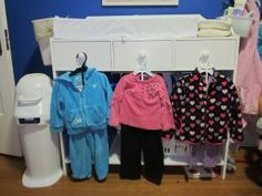 Montessori toddler bedroom - choices of clothing for the day
