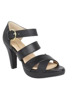 Comfortview Crystal Sandal  Black in {productContextTitle} from {brandTitle} on shop.CatalogSpree.com, your personal digital mall.