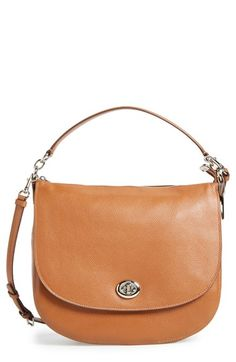 7a9fa0645236 COACH  Turnlock  Leather Hobo available at  Nordstrom Handbags On Sale