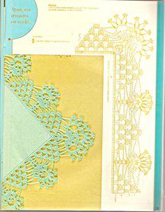 AS RECEITAS DE CROCHÊ 2: Gráficos de barrados em crochê com cantos