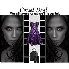 """""""We all have stories we'll never tell"""" Izzie Lace Overlay Long Corset Dress http://www.corsetdeal.com/Izzie-Lace-Overlay-Long-Corset-Dress_p_804.html  Your Price:$105.51 Retail Price:$135.51  40% Discount code : XMAS40  #corsetdeal #corset  #waist"""
