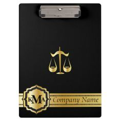 Company Stylish Clipboard.   www.zazzle.com/designsbydonnasiggy* - Please share this web address with your family and friends. Thank you for shopping in my store.  #law #clipboard #personalize #zazzle