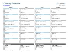 House Cleaning Schedule Screenshot