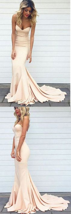 Long Prom Dresses,Cheap Prom Gowns on Line,Gowns Prom, Evening Dresses,Party Dresses for Girls,Sweetheart Sweep Train Pink Mermaid Prom Dress Evening Dress SD400