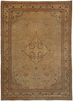 HADJI JALLILI TABRIZ, Northwest Persian 8ft 11in x 12ft 7in Circa 1875 http://www.claremontrug.com/antique-rugs-information/collecting/claremont-rug-companys-new-acquisition-highlights-antique-persian-rugs/hadji-jallili-tabriz-northwest-persian-8ft-11in-x-12ft-7in-circa-1875/