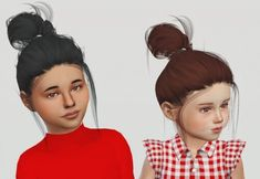LeahLillith Clique hair kids and toddlers for The Sims 4