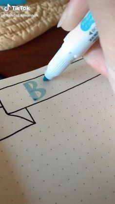 Bullet Journal Lettering Ideas, Bullet Journal Banner, Bullet Journal Notebook, Bullet Journal Themes, Bullet Journal Inspiration, Bullet Journals, Bullet Journal School, Hand Lettering Tutorial, Bullet Journal Aesthetic