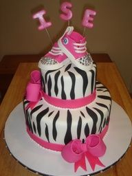 cha menina bolo decorado