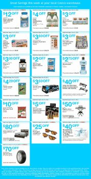 Coupons handout for Costco eastern provinces (Ontario, Quebec and Atlantic provinces ) valid from Sept 9 to 15