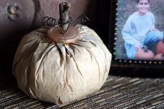 Recycled Coffee Filter Pumpkin