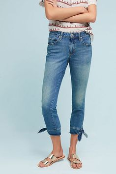 Slide View: 4: AMO Mid-Rise Cropped Skinny Jeans