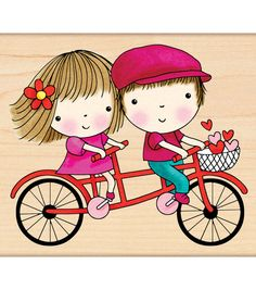 """Rubber Stamp 3.5""""X4""""-Mini Goes Tandem : stamps : stamping : scrapbooking :  Shop 