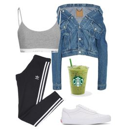 A fashion look from December 2016 featuring off-shoulder jackets, adidas and bralette bras. Browse and shop related looks. Swag Outfits For Girls, Lazy Outfits, Outfits With Converse, Cute Comfy Outfits, Sporty Outfits, Girl Outfits, Fashion Outfits, Stylish Outfits, Dope Fashion