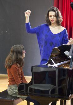 Khatia Buniatishvili giving a masterclass