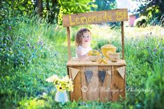 Lemonade Stand  THIS IS A DIGITAL PRODUCT...NO PHYSICAL PRODUCT WILL BE SENT!  Photo props for babies and children can be expensive, and time-consuming to set up. Thats why I started creating digital backgrounds for my portrait photography business. This way, I dont have to haul a baby deep into a field of wildflowers or other location for a portrait. I photographed the props in beautiful settings, and I add the baby in Photoshop/PSE.  I get many raves about my unique baby and child…