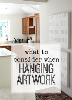 What to consider when hanging artwork in your home - make it feel cosy and uncluttered by hanging art in the right way