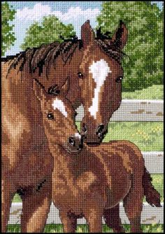 MOTHER'S PRIDE Dimensions counted cross stitch kit HORSE BABY FOAL