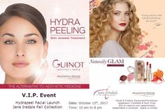 It's our Fall V. Event launching our NEW Guinot Hydra Peeling Facial and the Jane Iredale Fall Collection. See the details below. Call us to reserve your spot today as spaces are limited. Appointments, Promotion, Facial, Medicine, Cocktails, Appetizers, Product Launch, Spaces, News
