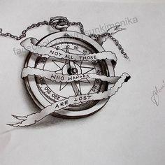 ... compass #dibujo #art_worldly #tattoo #design #3d #realistic #draw