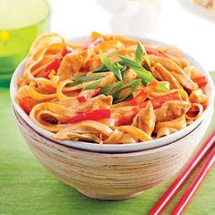 Bol de nouilles Chiang Mai au poulet - Recettes - Cuisine et nutrition - Pratico Pratique