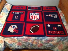 Free Crochet Pattern For New England Patriots Afghan : 1000+ images about Pillows & throws on Pinterest Afghans ...