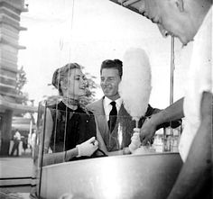 Grace Kelly and Jean Pierre Aumont out on a date at Coney Island