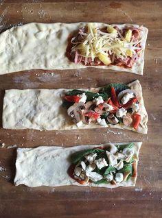 Vous pouvez aussi faire des «pochettes» chaudes à partir de pâte toute prête (il est préférable de les préparer environ une semaine à l'avance). | 16 idées cool pour améliorer vos déjeuners à emporter