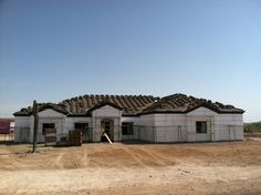 Farnsworth Residence- getting ready for roofing and stucco!