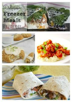 With this list of 100+ meals you're sure to find one your whole family will love!  #freezermeals #recipes #dinner