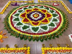 Ranholi design Rangoli Designs Flower, Rangoli Ideas, Rangoli Designs Diwali, Kolam Rangoli, Flower Rangoli, Beautiful Rangoli Designs, Flower Mandala, Flower Designs, Flower Art