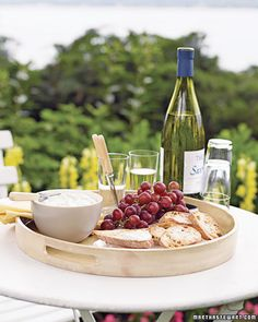 Three of my favorite things: Outside dining, cheese & wine...