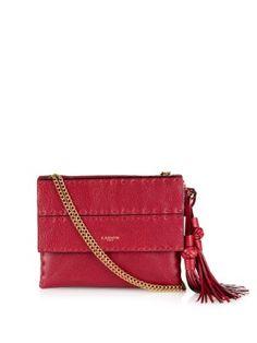 Sugar stitch-panel leather shoulder bag     Lanvin   MATCHESFASHION.COM US