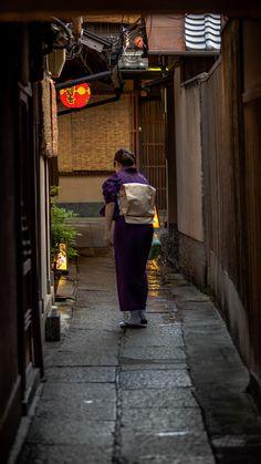 祇園 花咲 路地裏 Back Alley in Gion Hanasaki, Kyoto, Japan