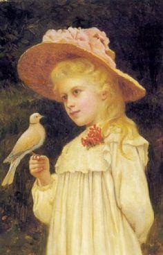 The Pet Dove  ~  Charles Spencelayh