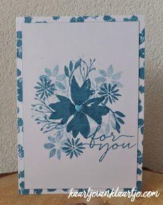 Kaartje van Klaartje, Stampin' Up! Blooms & Wishes, Stampin' Up! Playful Backgrounds,