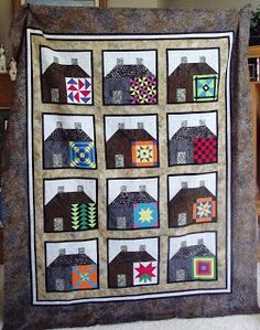 My Sewing Room: Amish House quilt . similar to one I want to make for a family member.