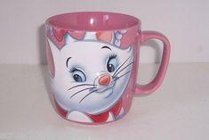 Disney Store Marie Aristocats Cat Pink Bows Coffee Mug Tea Cup NEW