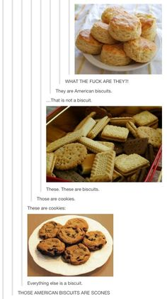American biscuits are not scones. Scones are sweet and dense. Biscuits are light, not-sweet, and utterly amazing when made right. Funny Cute, The Funny, Hilarious, Stupid Funny, Tumblr Funny, Funny Memes, Silly Jokes, Funny Captions, Funny Tweets