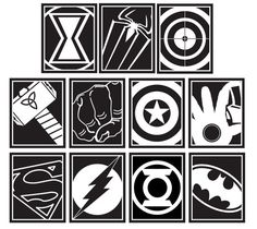 Superheroes Vinyl Wall Decals