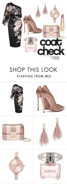 """Untitled #6"" by ana-mantas ❤ liked on Polyvore featuring Lipsy, MICHAEL Michael Kors, Lizzie Fortunato, Michael Kors, Versace and statementcoats"